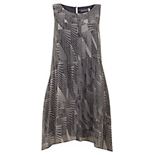 Buy Mint Velvet Ivy Print Dip Hem Dress, Black Online at johnlewis.com