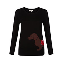 Buy Hobbs Peggy Jumper, Black Online at johnlewis.com