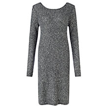 Buy Jigsaw Sparkle Knit Dress, Charcoal Online at johnlewis.com