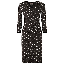 Buy Phase Eight Origami Bird Print Dress, Charcoal/Ivory Online at johnlewis.com