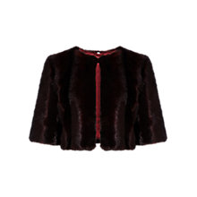 Buy Coast Vienna Faux Fur Cover Up, Merlot Online at johnlewis.com