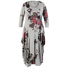 Buy Chesca Flared Jersey Drape Dress, Grey Online at johnlewis.com