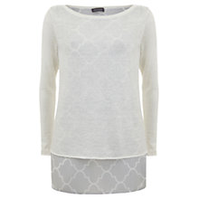 Buy Mint Velvet Faye Print Layered Tunic, Cream Online at johnlewis.com
