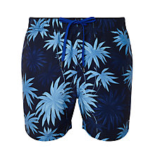 Buy Tommy Hilfiger Benton Flower Print Swim Shorts, Navy Online at johnlewis.com