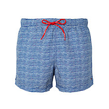 Buy Tommy Hilfiger Aiden Print Swim Shorts, Blue Online at johnlewis.com
