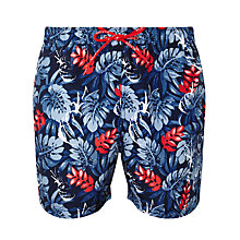 Buy Tommy Hilfiger Pineapple Leaf Print Swim Shorts, Navy Online at johnlewis.com