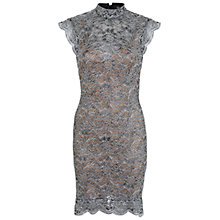 Buy Miss Selfridge Lace Dress, Silver Online at johnlewis.com