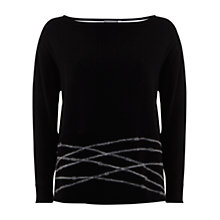 Buy Mint Velvet Felt Boxy Knit, Black Online at johnlewis.com