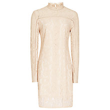 Buy Reiss Lillie Lace Shift Dress, Pink Chalk Online at johnlewis.com