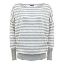 Buy Mint Velvet Stripe Knit, Grey/Ivory Online at johnlewis.com