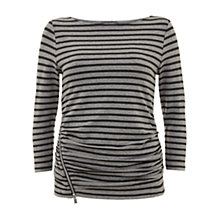 Buy Mint Velvet Zip Front Tee, Granite/Grey Online at johnlewis.com