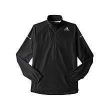 Buy Adidas Sequencials Climaproof Run Anorak, Black Online at johnlewis.com