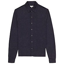 Buy Reiss Crowd Flecked Jersey Shirt, Navy Online at johnlewis.com