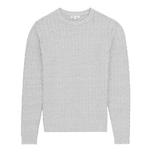 Buy Reiss Fox Textured Jumper, Grey Online at johnlewis.com