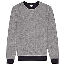 Buy Reiss Gally Contrast Jumper, Grey Online at johnlewis.com