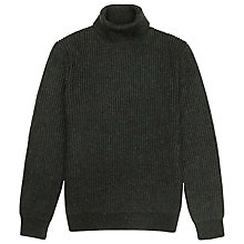 Buy Reiss Alfred Ribbed Rollneck Jumper Online at johnlewis.com