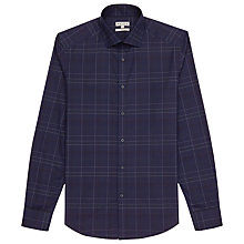 Buy Reiss Harper Slim Fit Check Shirt, Blue Online at johnlewis.com