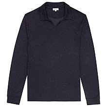 Buy Reiss Brook Open Collar T-shirt, Navy Online at johnlewis.com