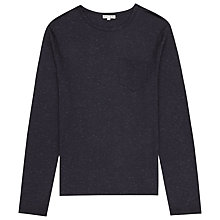 Buy Reiss Tanker Flecked Cotton T-shirt, Navy Online at johnlewis.com