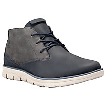 Buy Timberland Bradstreet Lace-Up Leather Chukka Boots, Black Iris Online at johnlewis.com