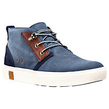 Buy Timberland Amherst Cotton Lace-Up Chukka Boots, Black Iris Online at johnlewis.com