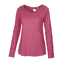 Buy Fat Face Lace Pyjama Tee, Pink Online at johnlewis.com