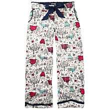 Buy Fat Face Sketch Animal Pyjama Bottoms, Fresh Snow Online at johnlewis.com