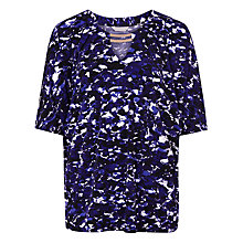 Buy Windsmoor Printed Jersey Top, Purple/Multi Online at johnlewis.com