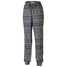 Buy Fat Face Geometric Print Trousers, Navy Online at johnlewis.com