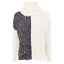 Buy Karen Millen Chunky Textured Cowl Neck Jumper, Multi Online at johnlewis.com