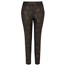 Buy Coast Quentin Lace Trousers, Gold Online at johnlewis.com