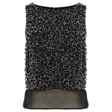 Buy Coast Starry Nights Embellished Top, Black Online at johnlewis.com