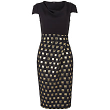 Buy Closet Square Jacquard Dress, Gold Online at johnlewis.com