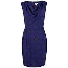 Buy Closet Cowl Neck Shift Dress, Blue Online at johnlewis.com
