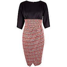 Buy Closet Geometric Dress, Orange Online at johnlewis.com