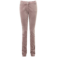 Buy Pure Collection Walham Washed Velvet Jeans, Warm Taupe Online at johnlewis.com