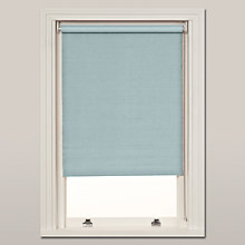 Buy John Lewis Hessian Blackout Roller Blind, Duck Egg Online at johnlewis.com