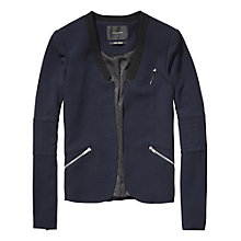 Buy Maison Scotch Biker Inspired Blazer, Night Online at johnlewis.com