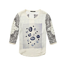Buy Maison Scotch Photo Print Top, Cream Multi Online at johnlewis.com