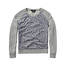 Buy Maison Scotch Embroidered Mesh Sweatshirt, Multi Online at johnlewis.com