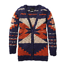 Buy Maison Scotch Oversized Intarsia Cardigan, Navy Multi Online at johnlewis.com