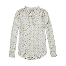 Buy Maison Scotch Floral Textured Tunic Blouse, Off White Online at johnlewis.com