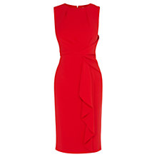 Buy Coast Curve Crepe Dress, Red Online at johnlewis.com