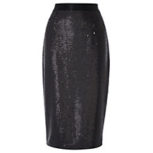 Buy Coast Ashlynne Sequin Skirt, Black Online at johnlewis.com