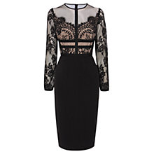 Buy Coast Malinda Lace Dress, Black Online at johnlewis.com