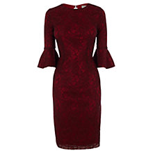 Buy Coast Allurea Lace Dress, Merlot Online at johnlewis.com