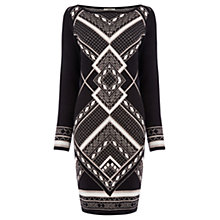 Buy Oasis Aztec Sparkle Dress, Black Online at johnlewis.com