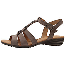Buy Gabor Eartha Nubuck Sandals, Taupe Online at johnlewis.com
