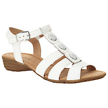 Buy Gabor Eartha Leather Sandals, White Online at johnlewis.com