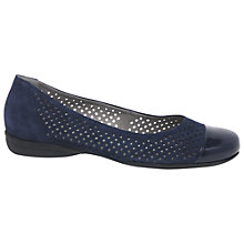 Buy Gabor Craster Wide Fitting Low Wedge Heeled Pumps Online at johnlewis.com